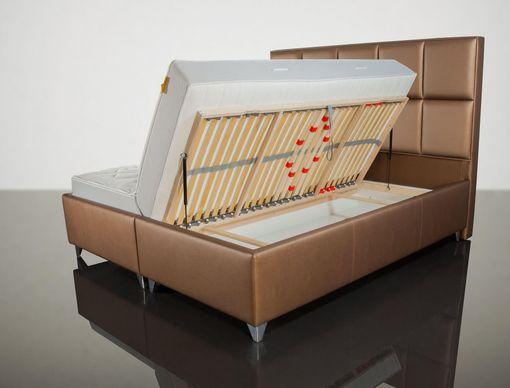 Manželská posteľ LUX10 BROWN