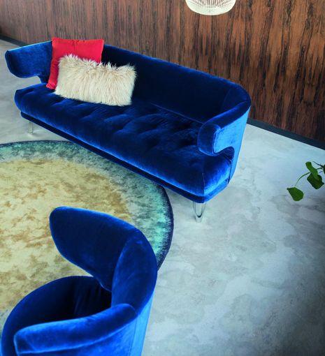 Látková sedačka Croissant