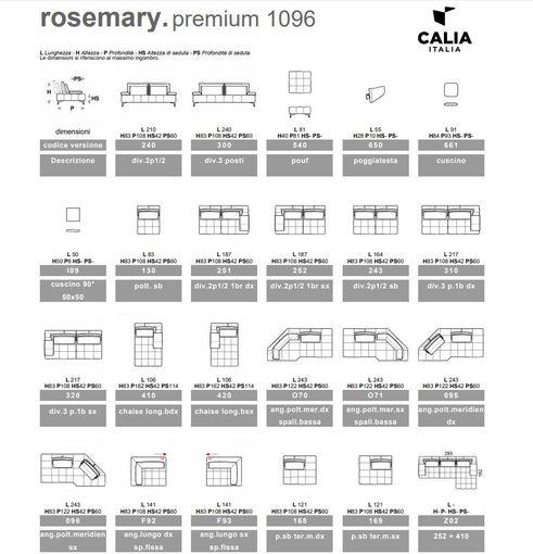 Talianska sedačka Rosemary