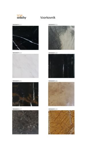 Jedálenský mramorový stôl Platin