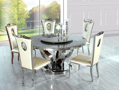 Okrúhly mramorový jedálenský stôl Silver