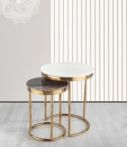 Príručný stolík s mramorom SET CE590