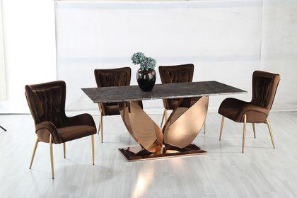 Jedálenský mramorový stôl Black