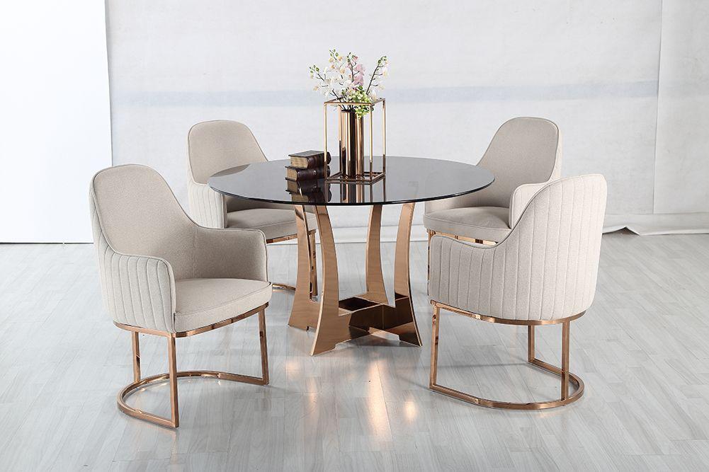Jedálenský sklenený okrúhly stôl Circle