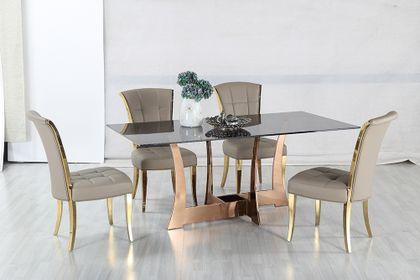 Jedálenský sklenený stôl Siarra