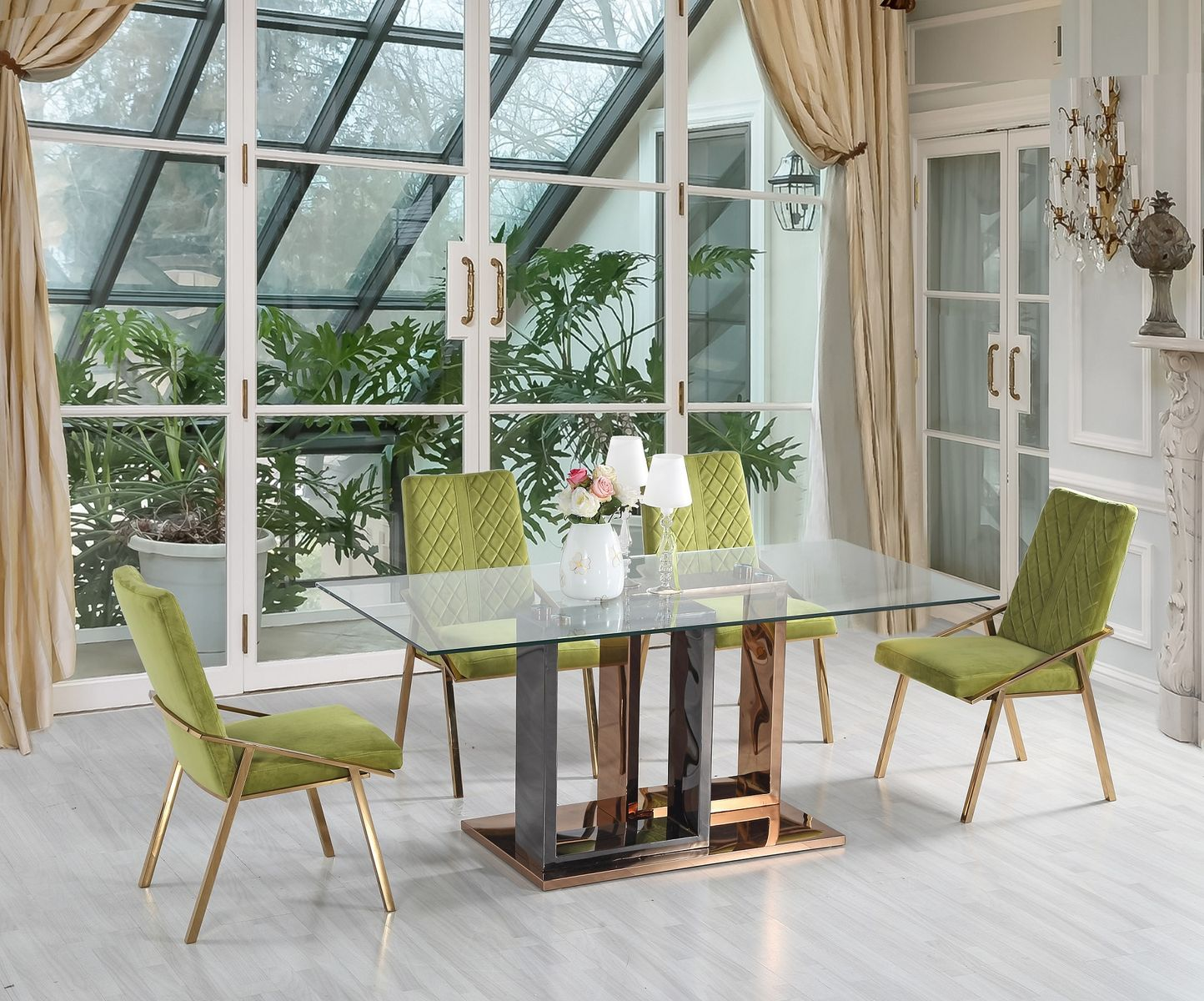 Jedálenský sklenený stôl Carlos