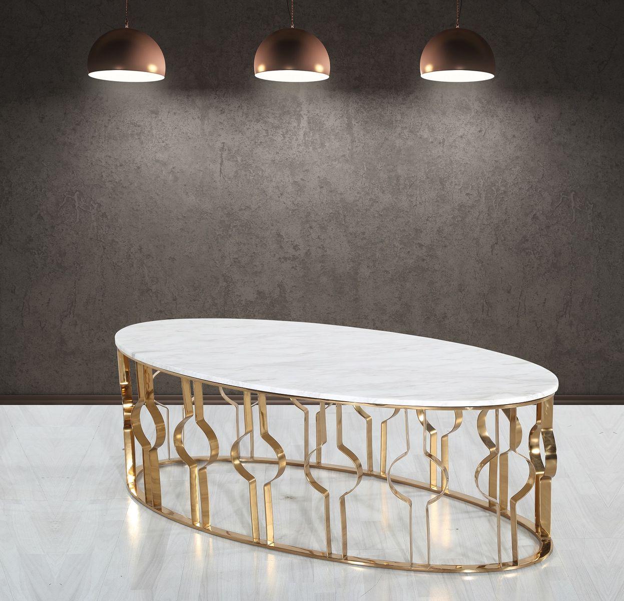 Konferenčný stolík s mramorom CT160