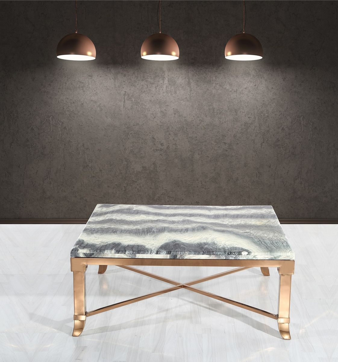 Konferenčný stolík s mramorom CT161