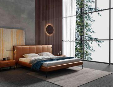 Kožená posteľ 06