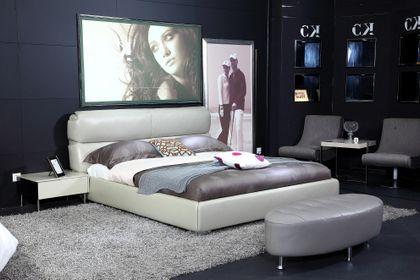 Kožená posteľ 20