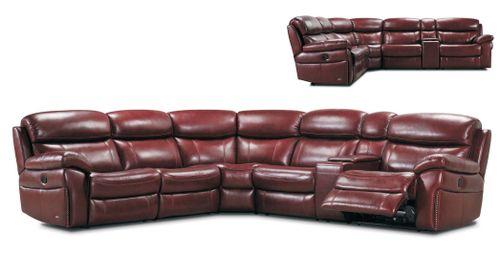 Kožená sedačka Cholargos