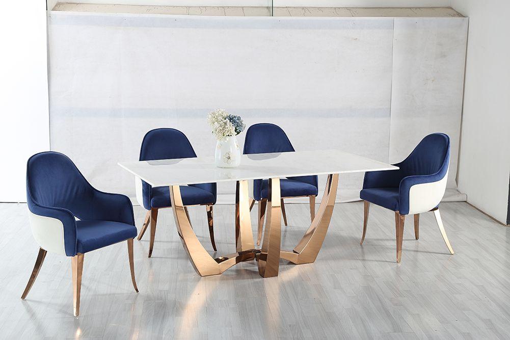 Luxusný jedálenský mramorový stôl Pearl