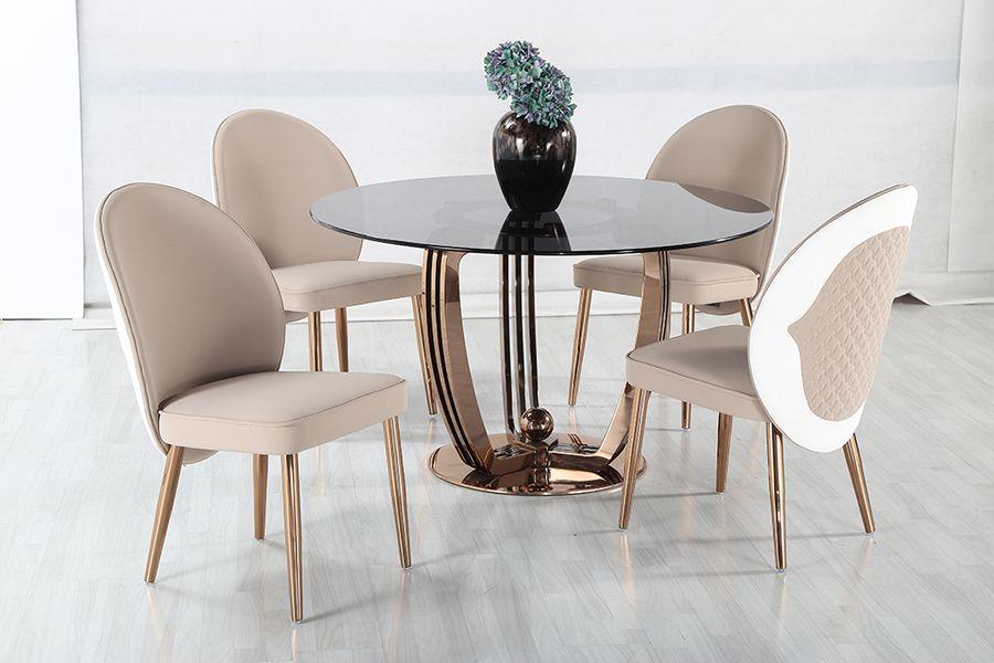 Luxusný okrúhly jedálenský stôl Galli