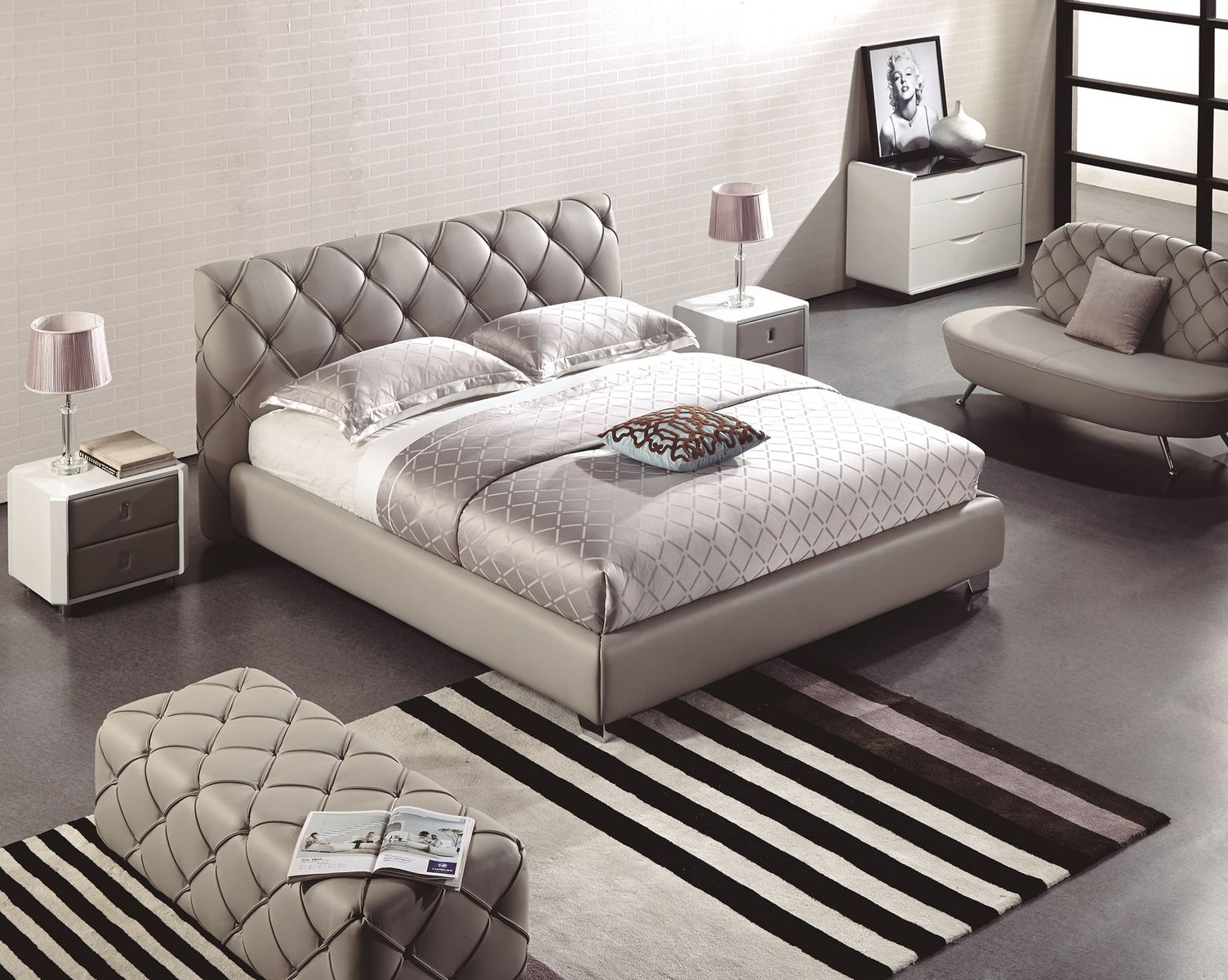 Kožená posteľ s úložným priestorom 12
