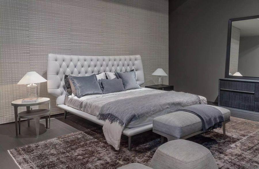 Luxusná kožená posteľ 15