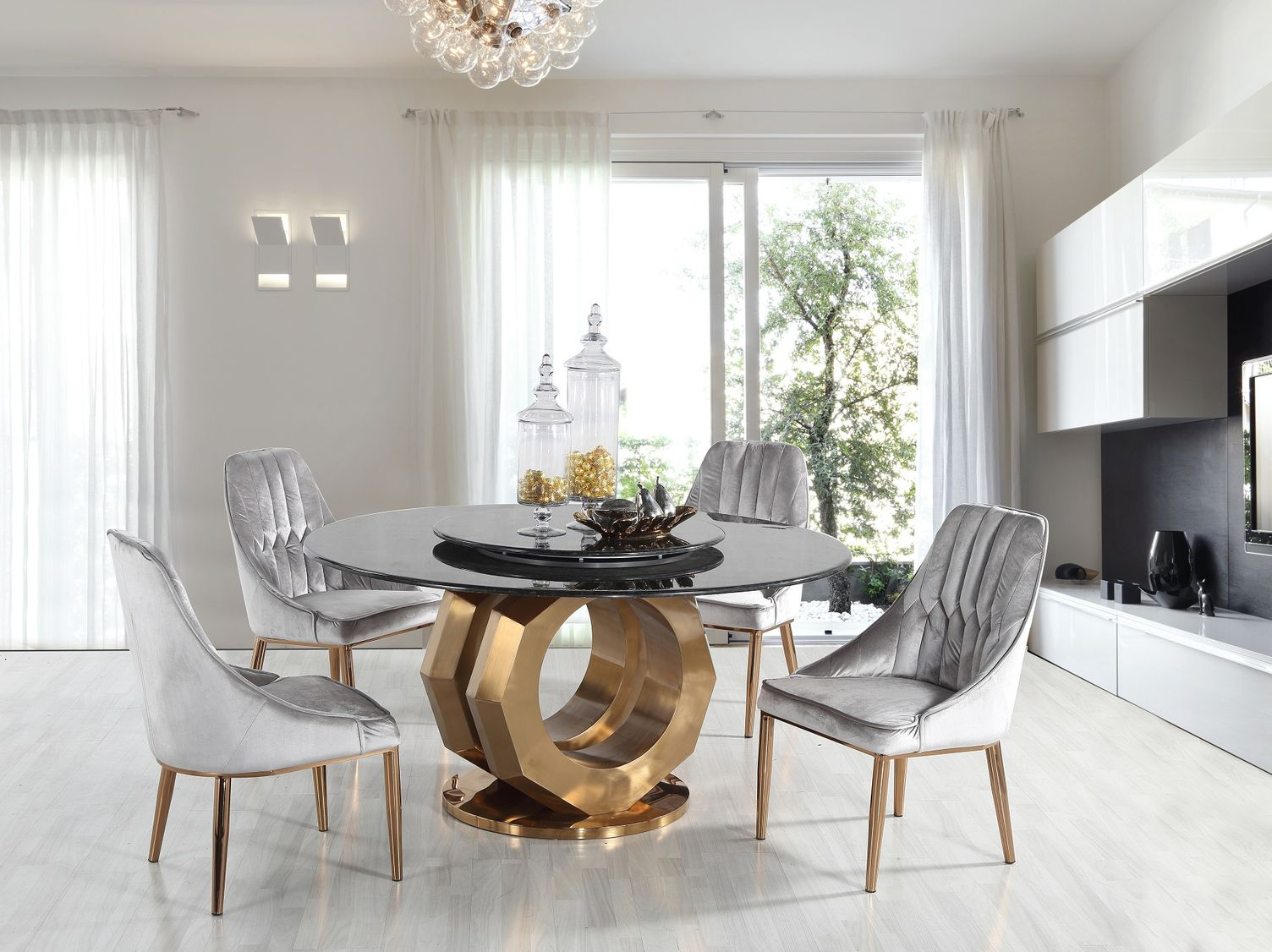 Okrúhly jedálenský stôl Industry