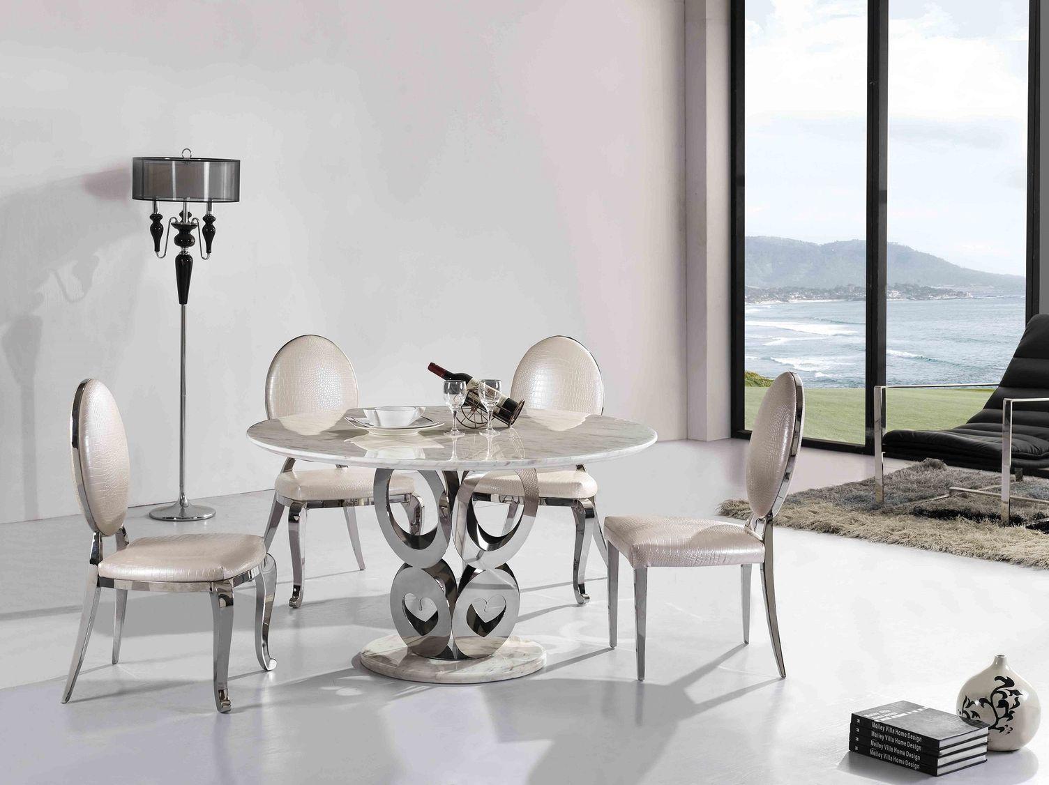 Okrúhly mramorový jedálenský stôl Graf
